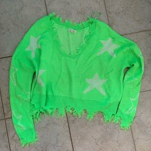 Dolls kill Trip Thru Space Distressed Sweater